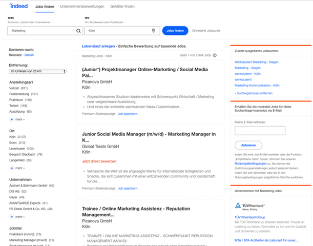 Suchergebnisse für Marketing Jobs in der Nähe Kölns auf Indeed