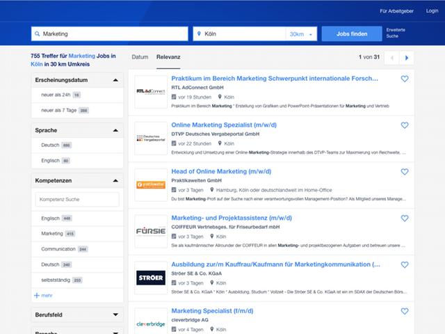 Suchergebnisse für Marketing Jobs in der Nähe Kölns auf Stepstone